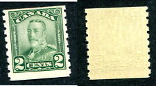 MNH Canada 2 Cent KGV Scroll Coil Stamp #161 (Lot #6290)