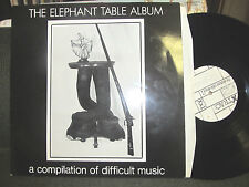 THE ELEPHANT TABLE ALBUM COIL CHRIS & COSEY NURSE WITH WOUND '89 2 lp RARE WOW!
