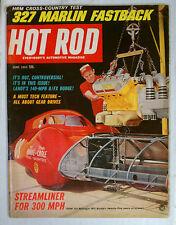 HOT ROD MAGAZINE VINTAGE 1965 JUNE STREAMLINER  CHEVY FORD MOPAR GM RACING