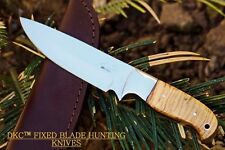 DKC-511-440c TRAIL BLAZER Fixed Blade Stainless Steel Hunting Knife Olive Wood B