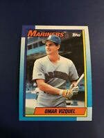1990 Topps # 698 OMAR VIZQUEL ROOKIE Seattle Mariners Hall of Fame ? Sharp !