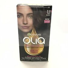 Garnier Olia 2.0 Soft Black Hair Color Permanent Pack of Three New