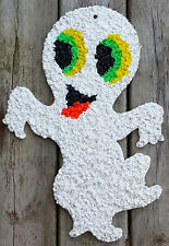 Vintage Melted Plastic Popcorn Halloween Ghostly Ghost Ghoul Spirit Haunting