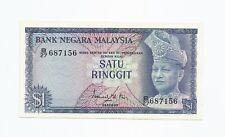 "MALAYSIA  RM1  1st Series  B27 687156  ""GEF"""
