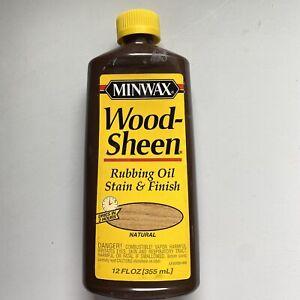 Minwax Wood Sheen Rubbing Oil Stain & Finish Natural 12 oz. Yellow Cap