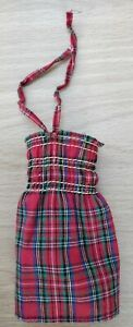 1980 MY FIRST BARBIE Fashion *Tartan Dress* Vintage