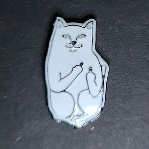 Adult Cat Middle Fingers Pin Broach Button #LCPS