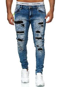 Herren Jeanshosen Stretch Hose Jeans Slim fit SUPER SKINNY Jeans 78262  JI