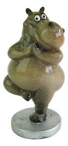 Yoga Hippo Figurine, Tree Pose Hippopotamus