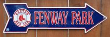 Boston Red Sox Fenway Park Tin Metal Arrow Sign Mlb Baseball Sports Bar C51