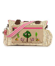 Pink Lining Cream Sam the Dalmatians Twice a Nice  Twins Diaper Bag  NWT