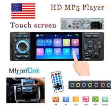 1Din 4'' HD Car Radio Car Video Player Touch Screen MP5 Player FM AUX USB US