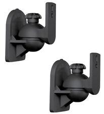 2 Pack Lot (Pair) Universal Satellite Speaker Black Wall Mount Brackets for Bose