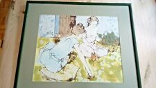 Bernard Dufour rare acrylic on canvas ' Two Ladies relaxing ' 62x55 cm