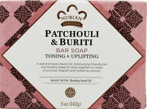 Nubian Heritage Bar Soap with Shea Butter and Rose Hip - Patchouli and Buriti -