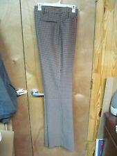 Nos Vintage Sears Tweed Flat Front Houndstooth Unhemmed Pants 42x40