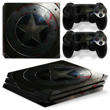 Captain America For  playstation PS4 PRO Pro Stickers & 2 Controllers Skin