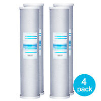"4 Packs Big Blue Whole House Carbon Block Replacement Water Filter 20"" x 4.5"""