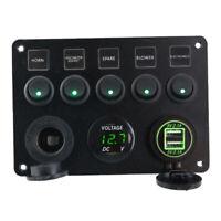 Interruttori A Bilanciere A 5 Bande LED Pannello Di Controllo Caricabatteria Da