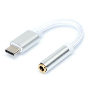 Type C USB To 3.5mm Earphone Jack Audio Cable Adapter For Huawei Samsung iPhone