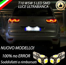 COPPIA LUCI TARGA 5 LED SPECIFICHE CITROEN C4 PICASSO T10 W5W CANBUS NO ERROR