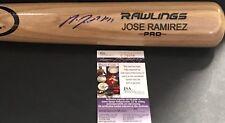 Jose Ramirez Cleveland Indians JSA COA Autographed Signed Pro Model Bat Blonde A