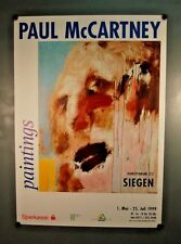 BIG MOUNTAIN FACE Paul McCartney Painting Poster Siegen Germany 1999 Exhibition