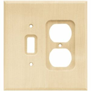 Franklin Brass W10396-UN Unfinished Wood Single Switch / Duplex Cover Wall Plate
