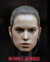 1/6 Daisy Ridley Custom Head Sculpt For Hot Toys Star Wars Rey SHIP FROM USA