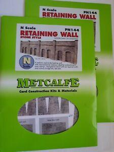 N Gauge Metcalfe Pn144 Retaining Wall X 2
