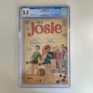 Archie Comics She's JOSIE #1 CGC 2.5 1963 2nd App JOSIE MELODY PEPPER 1st SOCK