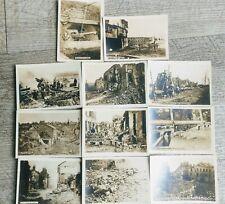 11 petites  Photos guerre 1914/ 1918 , Marne,Oise, Noyon, château Thierry....