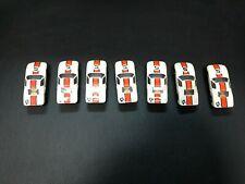 Aurora Ford Gt #5 white w/ orange stripe Slot car 1970 Vintage lot 7 cars