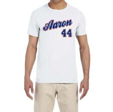 Atlanta Braves Hank Aaron Throwback Logo T-Shirt