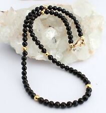 Spinel Necklace Gemstone Necklace Faceted Black Spinel Ball Necklace Spinels