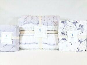 Pottery Barn Kids Lavender Brigette Ruffle Twin Quilt Euro Sham Margot Sheet Set