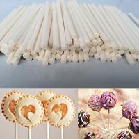 100Pcs Cake Sticks Lollipop Lollies Crafts Paper Dowels Sweets Lolly Stick