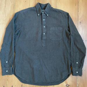 Gitman Vintage Flannel Popover Shirt (Forest Green) Medium (Oi Polloi)