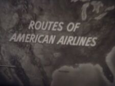 16mm  Routes of American Airlines Freeport New York Gulf of Mexico 400'