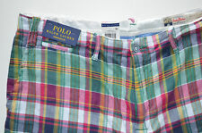 "NWT Men's Polo Ralph Lauren Casual Shorts ""India Madras"" Straight Fit, Sz. 34"