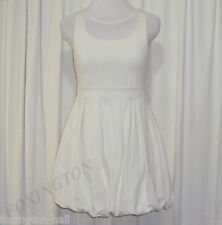 BEAUTIFUL CAMILLA AND MARC CREAMY WHITE BUBBLE HEM MINI DRESS AUS 10 US 6