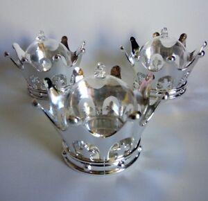 12pcs Silver Crown/Dome, Decor Favor Box keepsake Baby shower, Wedding, Birthday