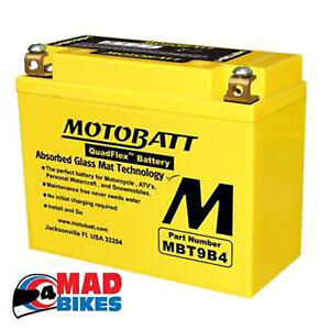 YAMAHA YZF R6 NEW SUPER SEALED MOTOBATT MOTORCYCLE BATTERY 2001, 02,03,04,05