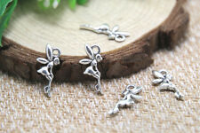 60pcs tiny fairy charms argent antique tiny fairy conte de fées pendentifs 18x8mm