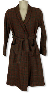 Pendleton 100% Wool Plaid Bathrobe Men's Size Medium -Color Red/Black/Green EUC