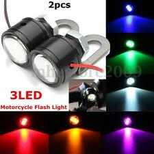 2x Motorcycle Mirror Mount LED Constant Bright Eagle Eye DRL Tail Light Lamp