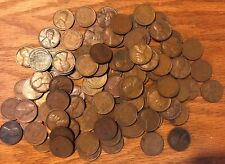 1940-1958 Lincoln Cents Wheat Penny Rolls! Random Mint/Date Circulated 20's-30?