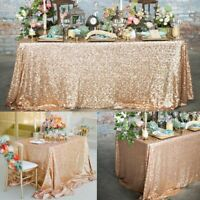 Glitter Sequin Tablecloth Embroidered Wedding Christmas Decoration Table Cloth