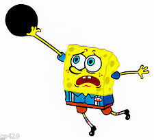 "Spongebob sports bowling ball wall decal prepasted wall border cut out 5"" inch"
