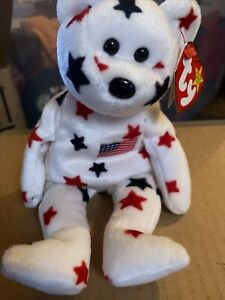 """NEW TY Beanie Baby - """"Glory"""" The Bear - 1997 - Retired With Errors"""